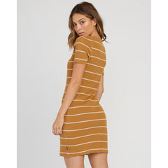 rvca donner dress back view Casual Dresses mustard
