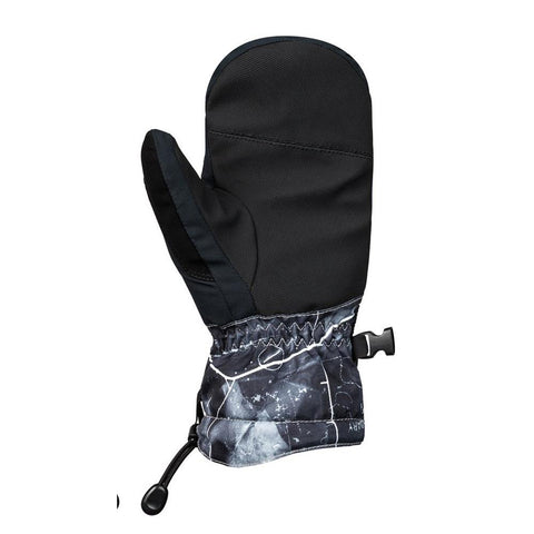 quicksilver mission youth mittens back view Youth Mitts black/grey