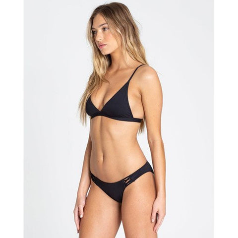 billabong sol searcher tropic bottom side view bikini bottoms black