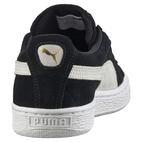 puma suede classics womens back view Womens Skate Shoes black