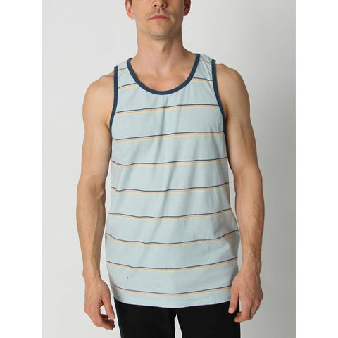 BILLABONG DIE CUT front view Mens Tank Tops And Jerseys blue pinstripe