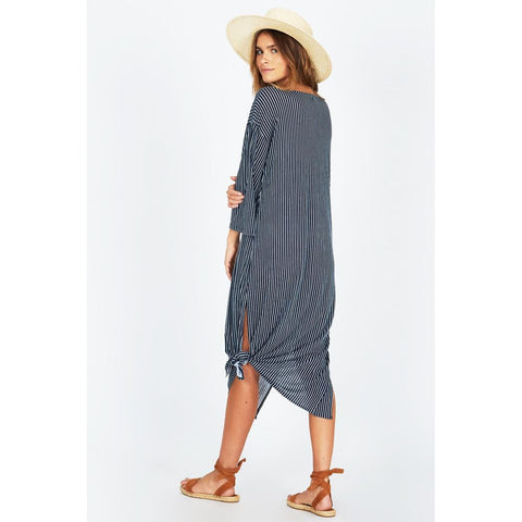 AMUSE SOCIETY MORNING FOG DRESS BACK VIEW CASUAL DRESSES NAVY