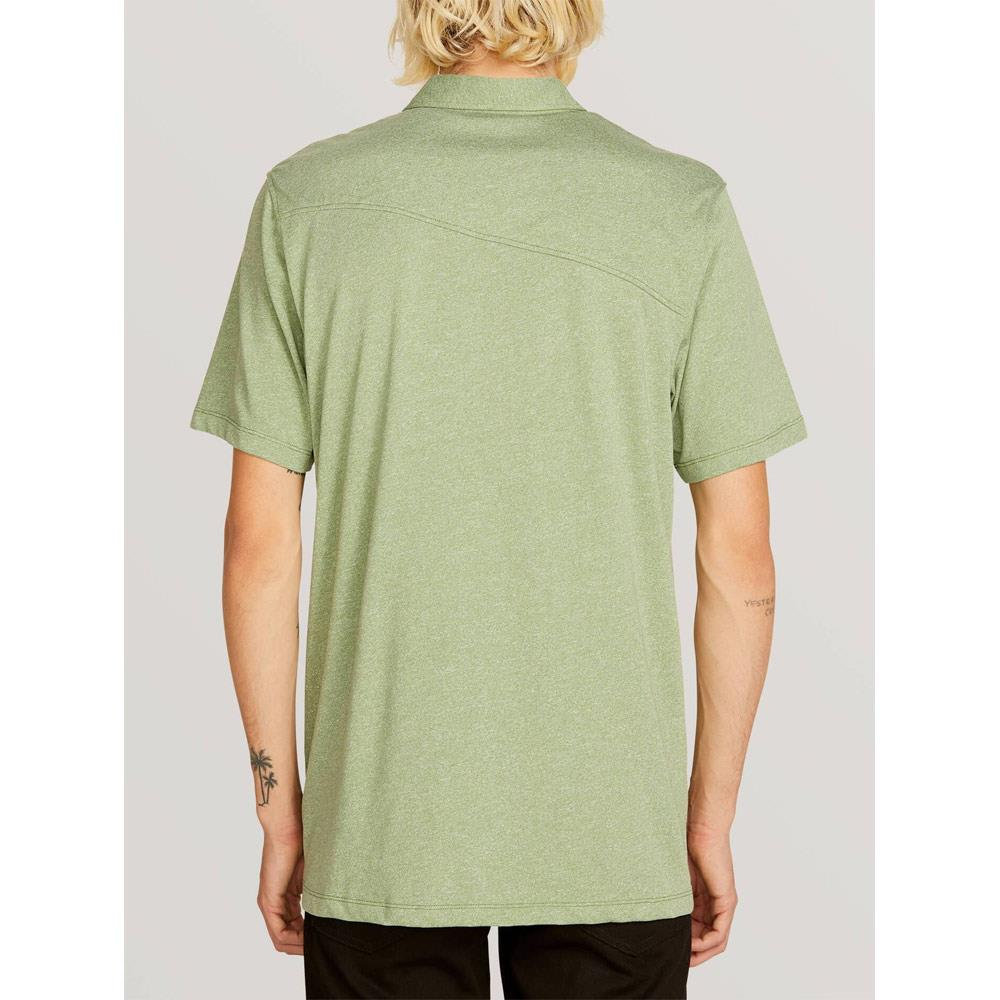VOLCOM WOWZER POLO BACK VIEW MENS POLO SHIRTS GREEN