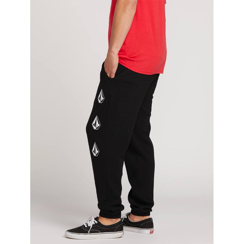 VOLCOM COMDEADLY STONES PANT SIDE VIEW MENS SWEAT PANTS BLACK