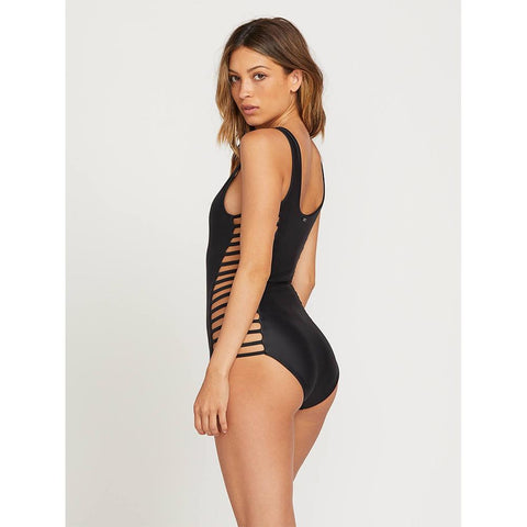 VOLCOM GMJ X VOLCOM 1PC SIDE VIEW ONE PIECE BATHING SUITS BLACK