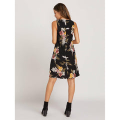 volcom wrap skillz dress back view casual dresses black