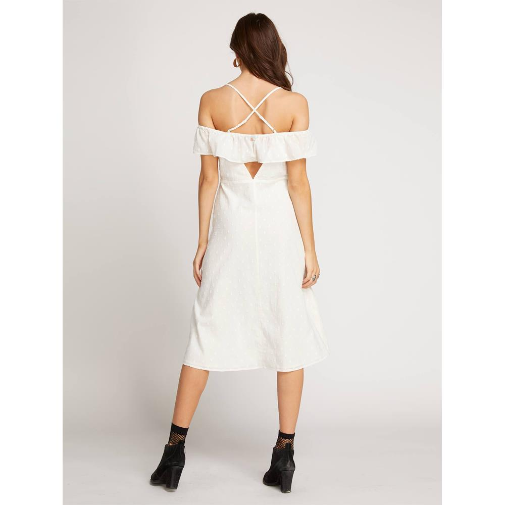 volcom winding roads back view casual dresses white