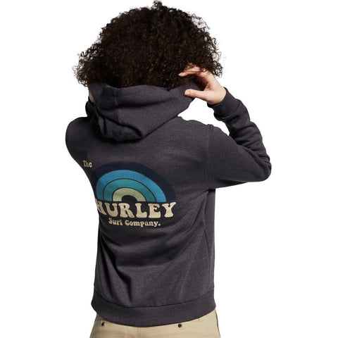 AR1144, Hurle, Perfect Surfbow Full Zip Hoodie, Womens hoodies, Oil Grey, 013, back view