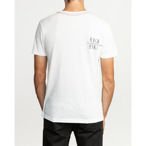 rvca smoker back view Men T-Shirts Slim Fit ivory