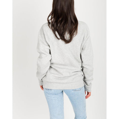 brunette Brunette Crew back view Womens Sweaters grey