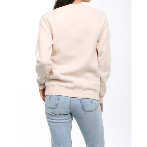 brunette Blonde Crew back view Womens Sweaters peach