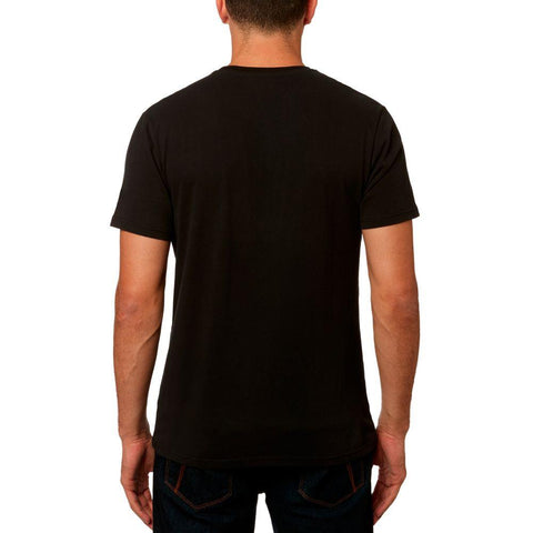 Fox Racing, Slash SS Airline Tee, Mens Short Sleeve T-Shirts, Black, 23114-001, Back view