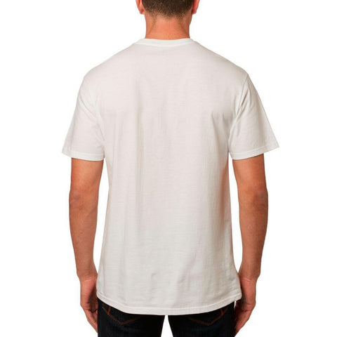 Fox Racing, Furnace SS Premium Tee, Mens T-shirts, 23110-190, Opt White, Back view