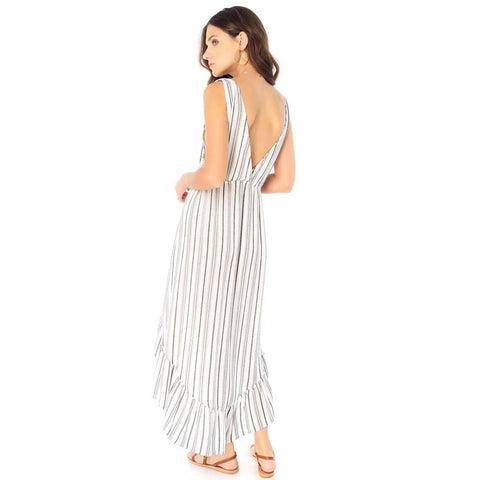 S1035-W33, LoveStoned Maxi Dress, Saltwater Luxe, Womens Dresses, White, back view