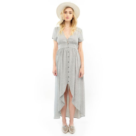Saltwater Luxe, Dawson Maxi Dress, Womens Dresses, S1018-W6 sage green, dot