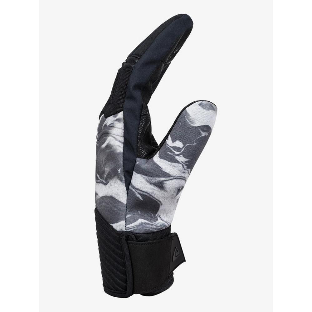 EQYHN03108-WBK3, WHITE HIGHLINE, QUIKSILVER, MENS GLOVES, METHOD GLOVES, MENS OUTERWEAR, WINTER