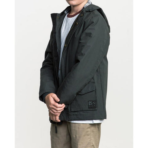 13702srpp-ptk RVCA Boys Puffer Parka Jacket black side
