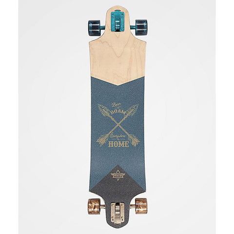 "Dusters, Roam Longboard Compelte, 38"", Gold/Green, 10531431, top view"