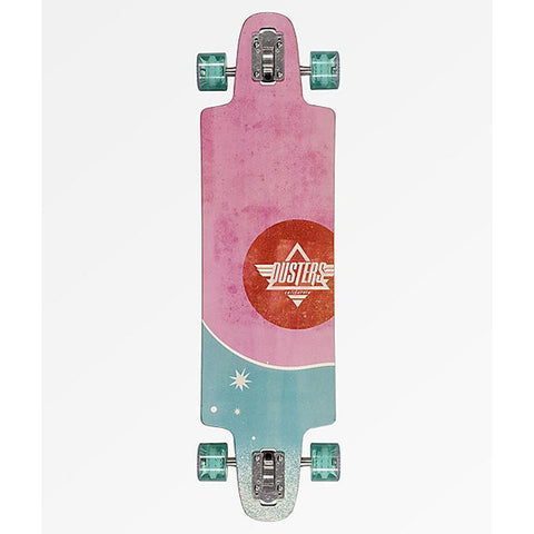 "Dusters, Salty Daze Longboard Complete, Pink/Green, 36"", 10531433, Top View"
