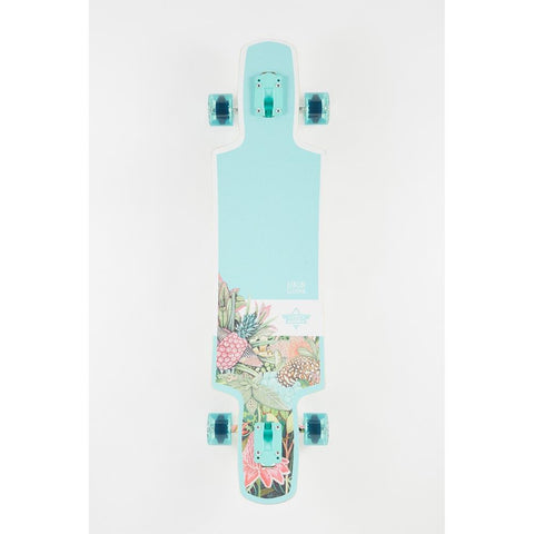 "Dusters, Biome Longboard complete, 38.5"", Teal, 10531438, top view"