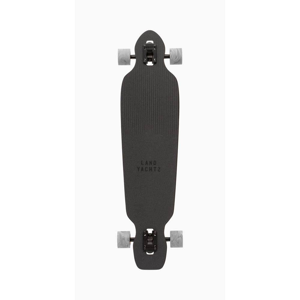 "119CP-FRBA38FX, Battle Axe 38 Fox Complete, Complete Longboards, 38"", Blue, Navy, Orange, Top View"