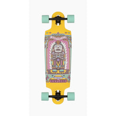 "119CP-FRDCT33Il, 33"", Landyachtz, Drop Cat Illumination Complete, Longboard complete, Yellow, Bottom view"