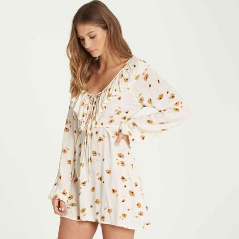 Billabong Take Away Long Sleeve Mini Dress