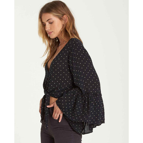 Billabong Lust Wind Flared Sleeve Top