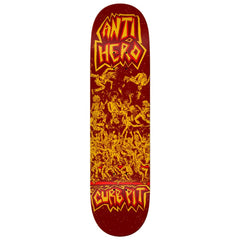 Anti Hero, Team Curb Pit, Skate Deck, Skateboarding Deck, Red, Yellow, AH-1002056809