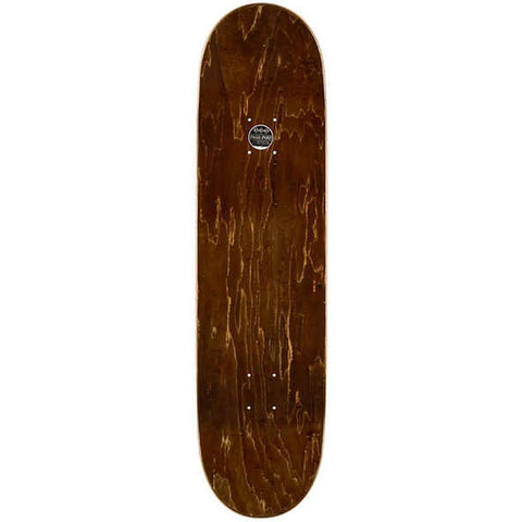 "Passport, Good In Bed Skateboard Deck, Green, 8.5"", top view"