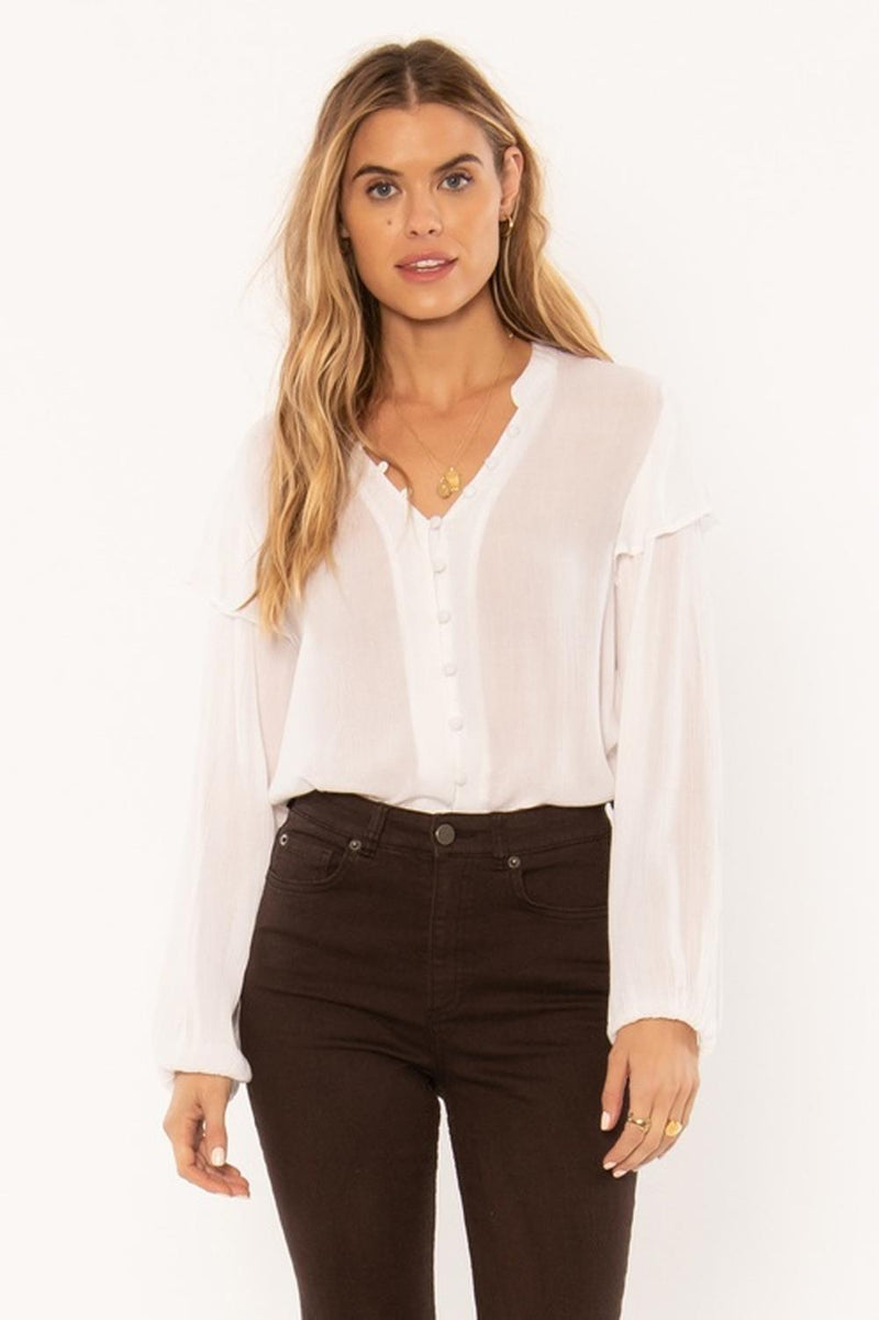 Amuse Society Lana Long Sleeve Woven Blouse