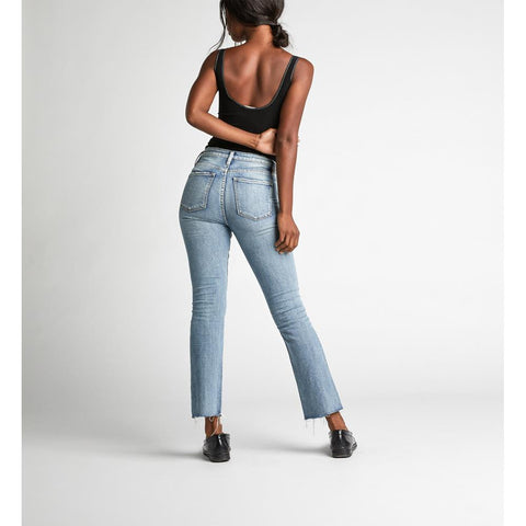 Silver Jeans, High Note Ankle Bootcut jeans, Womens Jeans, Indigo, Denim, back view L64713SOP117