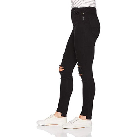 Silver Jeans, Robson High Rise Jeggins, Black, Womens Skinny Jeans, Womens Jeans, L64024SBK511 Side view