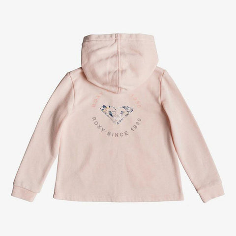 Roxy Girls Pink Knot A Zip Up Hoodie
