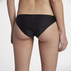 Hurley, Quick Dry Surf Bottoms, Womens Bikini Bottoms, 940926-010, black, back view