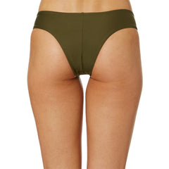 Hurley, Quick Dry Hipster Surf Bottoms, Womens Bikini Bottoms, Olive, AQ3202-395, back view