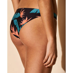 Hurley, Quick Dry Hanoi Surf Bottom, Womens Bikini Bottoms, Black, AT1797-010, back view