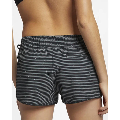 Hurley, Phantom southside waverider boardshorts, womens boardshorts, black, AT1802-010, back view