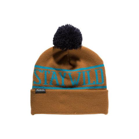 ab20bea-ear Airblaster Stay Wild Beanie earth front