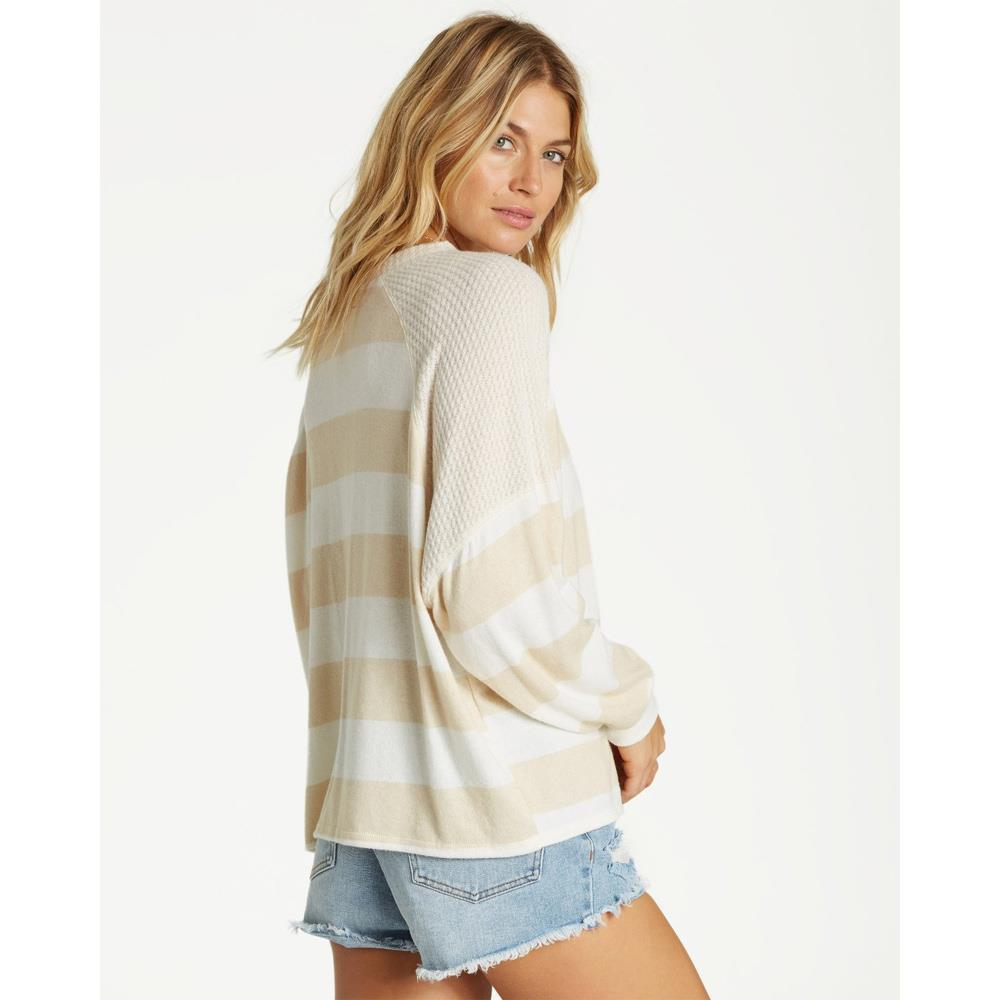 J917SBHE-ANW, Head Start, Billabong, Antique White, Sweater, Stripes, Fall 2019, Back View