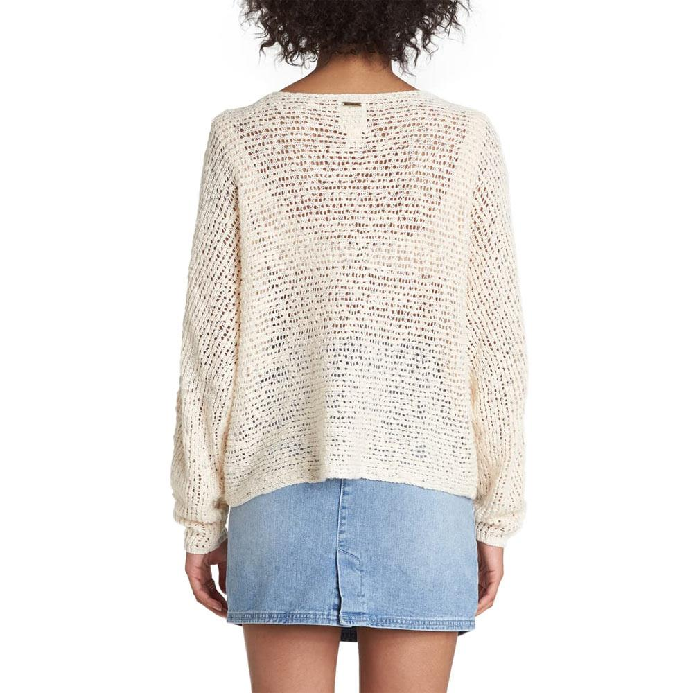 Billabong, JV01VBCH-WCP, Chill Out Sweater, White Cap, Womens Sweaters, Fall 2019, Back View