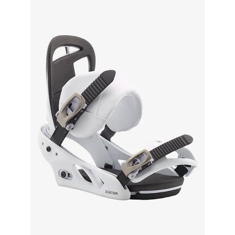 Burton, 10552106102, Scribe, Fade to white, White, Black, Womens Snowboard Bindings, Winter 2020