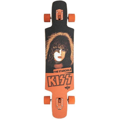 "10531456, Dusters, Kiss Longboard, Longboard Complete, 38.5"", Black/Orange"