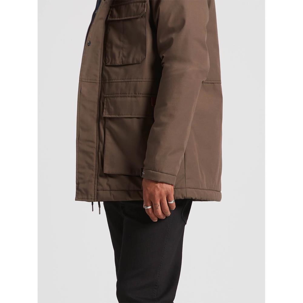 Volcom, A1731907-MBR, Major Brown, Renton Winter 5K Jacket, Mens Jackets, Mens Outerwear, Fall 2019