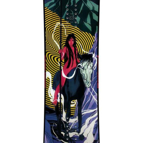 1911283, Capita Snowboards, Indoor Survival, Mens Freestyle Snowboards, Winter 2020, Pink, Blue, Black, Yellow, Close up