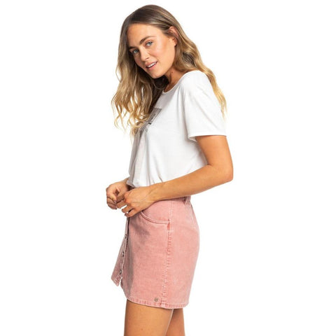 ERJWK03069-MMS0, CEDAR WOOD, PINK, UNFORGETTABLE FALL SKIRT, ROXY, WOMENS SKIRTS, FALL 2019, SIDE VIEW