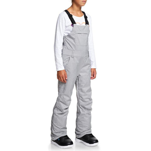 ERGTP03019, Roxy, Non Stop Bib Pants, Girls outerwear 7-14 years old, Grey, Heather Grey, SJEH, Side View