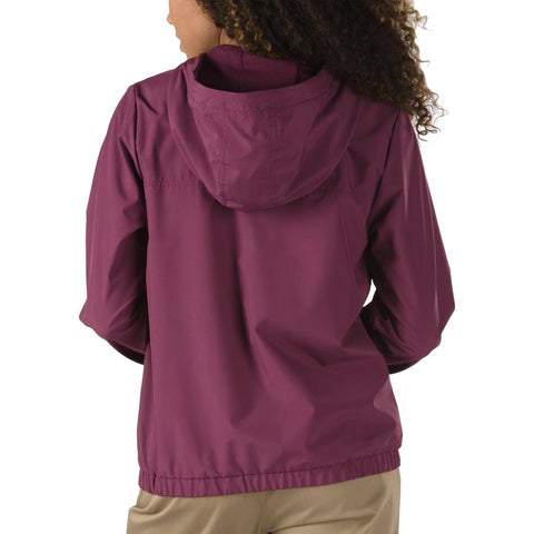 vn0a47u37d5 Vans Kastle III Windbreaker prune back view