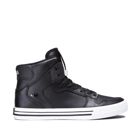 SUP-08208-002, Supra, Vaider, Leather High Tops, Mens Shoes, Black, Side View