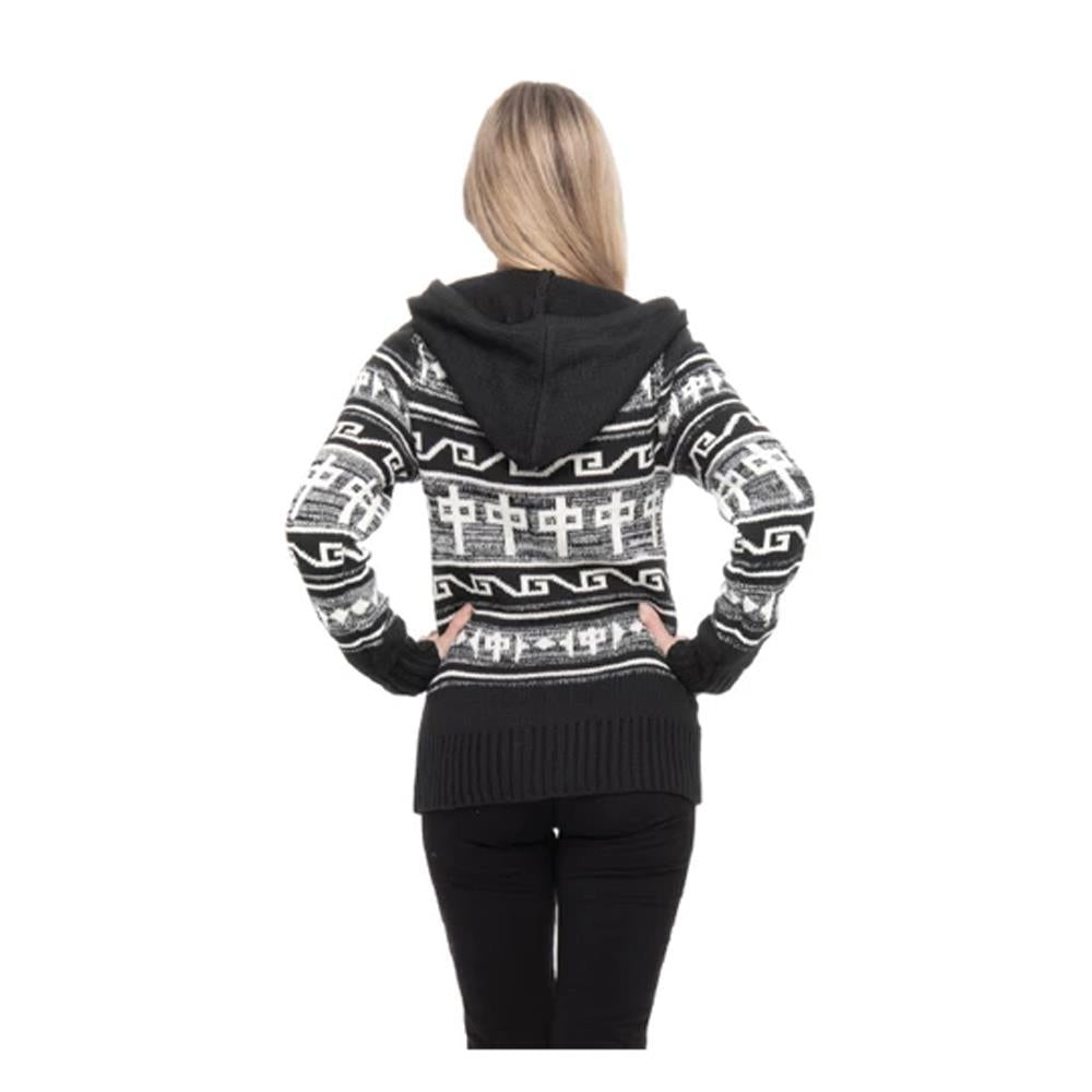 RD9089, RDS, GRBK, Grey/Black, Womens Sweaters, Nanaimo, Zip Up Hoodie, Fall 2019, Back View